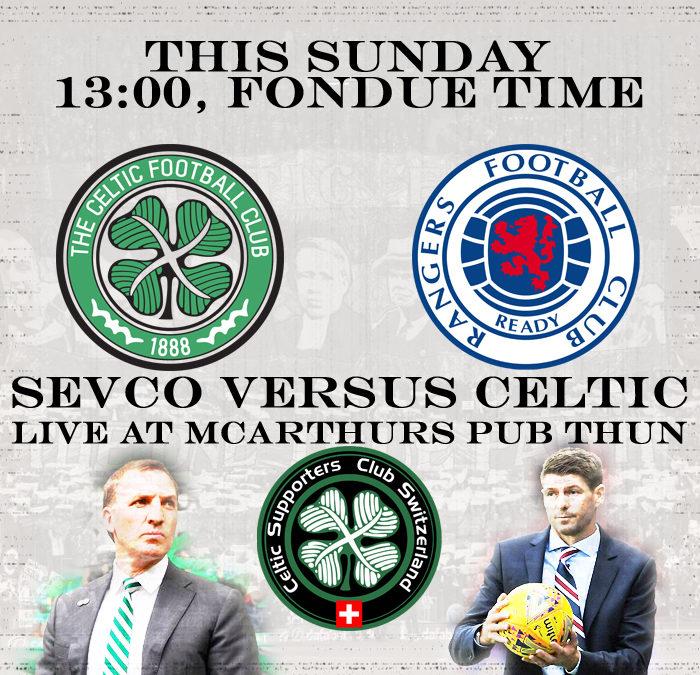 Celtic versus Sevco live at McArthurs Thun