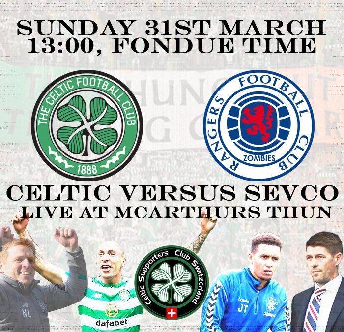 Celtic versus Sevco at McArthurs Thun